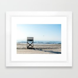 While the Lifeguards Away Framed Art Print