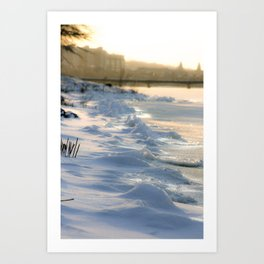 On the Banks of the Charles Art Print