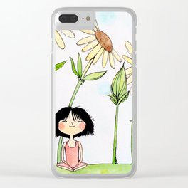 Among the Flowers Clear iPhone Case