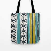 cleveland Tote Bags featuring Cleveland 5 by Little Brave Heart Shop