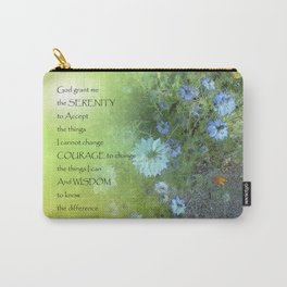 Serenity Prayer Bachelor's Buttons Carry-All Pouch