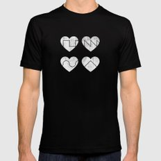 Love Synth Mens Fitted Tee MEDIUM Black