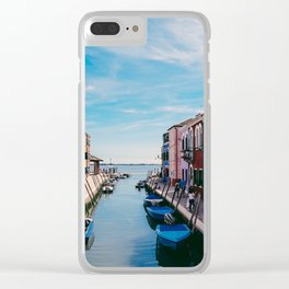 Color House Clear iPhone Case