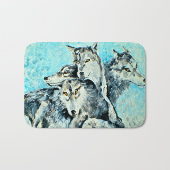 Our Brothers, the Wolves Bath Mat