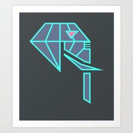 Diamond Elephant Art Print