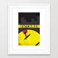 watchmen Framed Art Prints featuring Watchmen by Thcenk