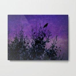 Raven Sentinel Metal Print