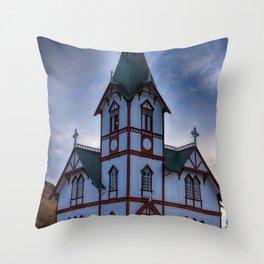 Husavik Church Iceland Throw Pillow