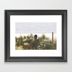 ski fields Framed Art Print