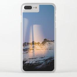 Modern Aurora Clear iPhone Case