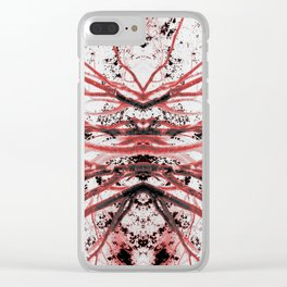Bloodstream (Mirrored Trees) Clear iPhone Case