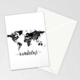 Wanderlust World Map Stationery Cards