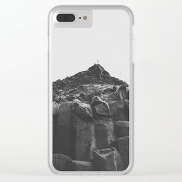 Reynisdrangar Rocks Clear iPhone Case