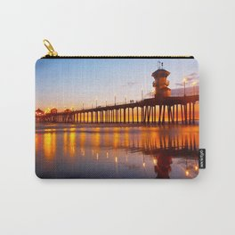 HB Pier Low Tide Sunset ~ 8/26/13 Carry-All Pouch