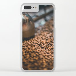 Roasted Coffee 4 Clear iPhone Case