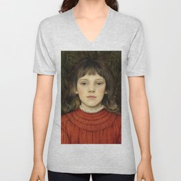 "Evelyn De Morgan ""Portrait of Winifred Julia Spencer Stanhope"" Unisex V-Neck"