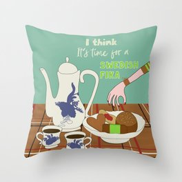 Swedish fika collection #3 Throw Pillow