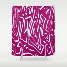 Laberinto violet white Shower Curtain