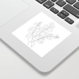 Minimalistic Eucalyptus  Line Art Sticker