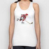 hockey Tank Tops featuring Hockey by Dues Creatius