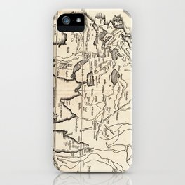 Vintage Map of The World (1522) iPhone Case