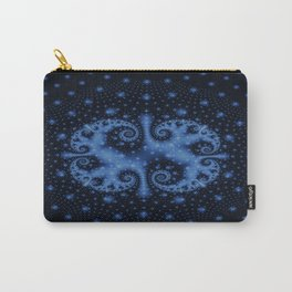 Blue swirl Carry-All Pouch