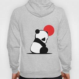Shy Panda in the Red Sun Hoody