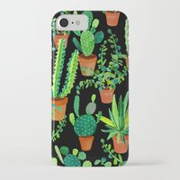 cacti iPhone & iPod Cases featuring Cacti by Sian Keegan