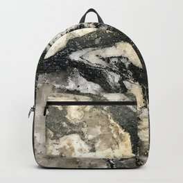 Chocolate Fudge and Hazelnut Cream Marble Pattern Backpack