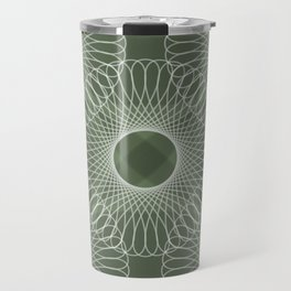 Circled in Shades of Emerald Green Travel Mug