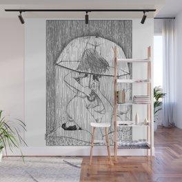 asc 514 - La fille qui aimait la pluie (Rider on the storm) Wall Mural