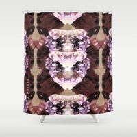 minerals Shower Curtains featuring Mira Minerals by lalaprints