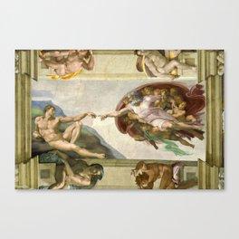 "Michelangelo ""Creation of Adam"" Canvas Print"