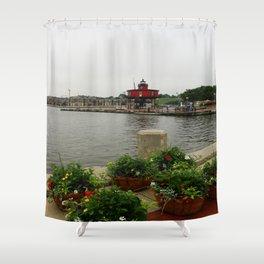 Seven Foot Knoll Light - Baltimore Inner Harbor Shower Curtain