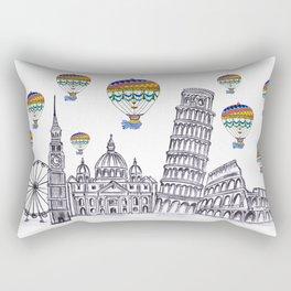 Travel with Air Balloons Rectangular Pillow