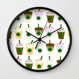 It's Frappuccino Time! Wall Clock