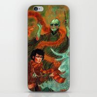 deathly hallows iPhone & iPod Skins featuring The Deathly Hallows by Angela Rizza