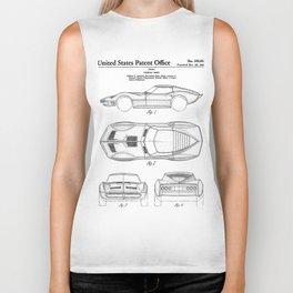 Classic Car Patent - American Car Art - Black And White Biker Tank