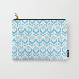 Modern Blue Dandelions Floral Flower Pattern Carry-All Pouch