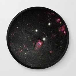 Dwarf Irregular Galaxy Holmberg II Wall Clock