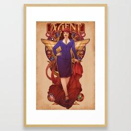 Call Me Agent Framed Art Print