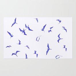 Blue seabirds by #Bizzartino Rug
