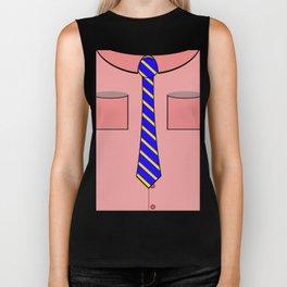 Pink shirt and tie Biker Tank