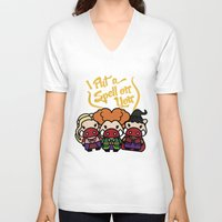 hocus pocus V-neck T-shirts featuring Hocus Pocus by worldboar