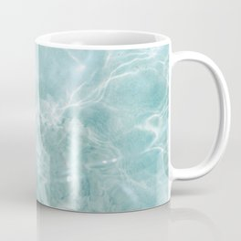 Clear blue water | Colorful ocean photography print | Turquoise sea Coffee Mug