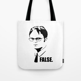 False funny office sarcastic quote Tote Bag