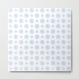 stars 59- pink and blue Metal Print
