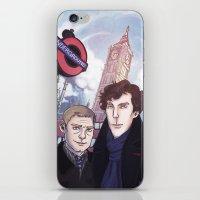 johnlock iPhone & iPod Skins featuring London Johnlock by enerjax