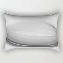 """Untitled 011"" Black and White Abstract Art by Murray Bolesta Rectangular Pillow"