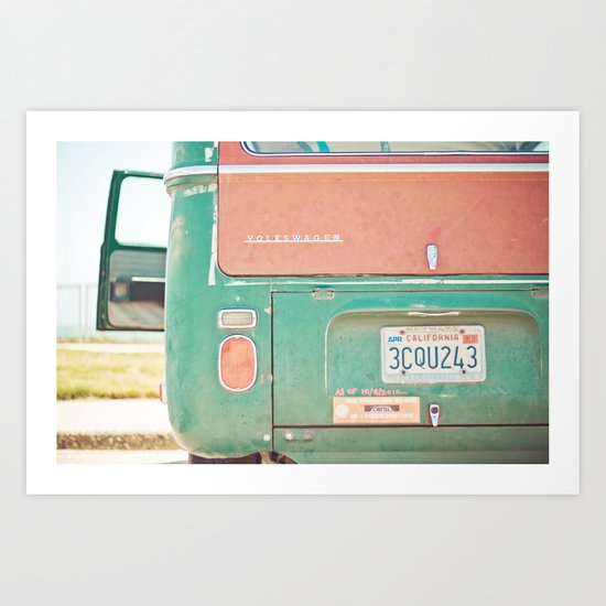 Beach Wagon Art Print